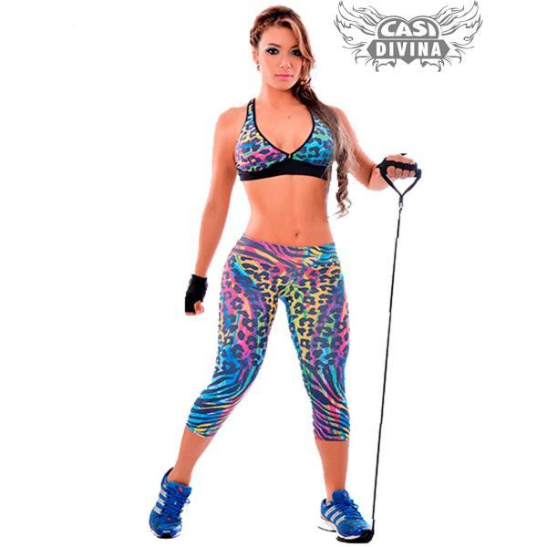 1854660d1 Conjunto Deportivo Fitness Salvaje compuesto de top y legging con ...