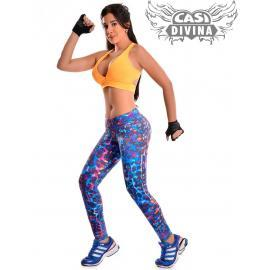 legging pitillo purple print