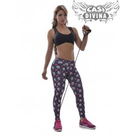 Legging pitillo mini skulls