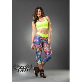 Legging multicolor estampado grafiti floral